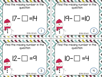 Missing Addends - Subtraction