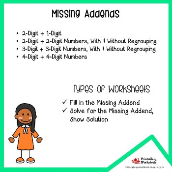 Missing Parts Addition Related To Subtraction Worksheets