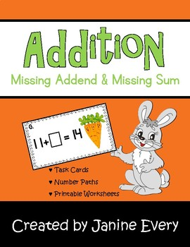 Missing Addends & Sums - Spring Addition Activities