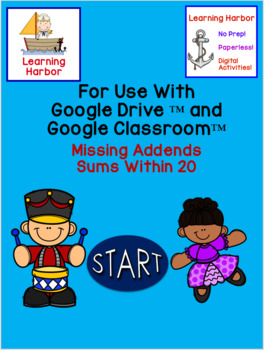 Missing Addends Sums Within 20 12 Days of Christmas use with Google Slides™