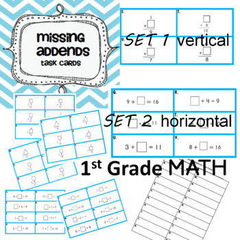 Missing Addends Task Cards