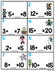 Missing Addends Task Cards-Winter