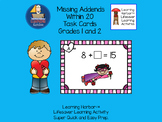 Missing Addends Within 20  Valentine Super Hero theme  Grades 1 - 2