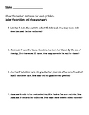 Missing Addends Word Problems - Easy