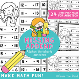 Missing Addends Worksheets - Numbers to 30