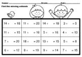 15 Missing Addends Worksheets up to Number 20, Addition, S