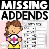 Missing Addends: Math Practice Worksheets for Grades 1-2 (