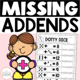 Missing Addends: Math Practice Worksheets for Grades 1-2 (