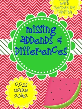 Missing Addends and Differences 1.OA.D.8 2.OA.2 30 activity combos!