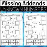 Missing Addends and Finding Unknown Numbers