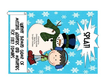 Missing Addends and Minuends plus Fact Families! - Winter Theme