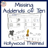 Missing Addends of 10 Clip Cards- Addition
