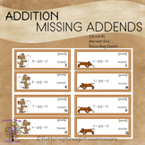 Addition Missing Addends (sums to 20)  Answer Key 26 cards  recording sheet