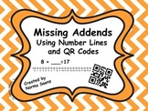 Missing Addends with Number Lines and QR Codes