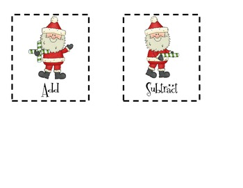 Missing Addition Subtraction Symbols ** Christmas