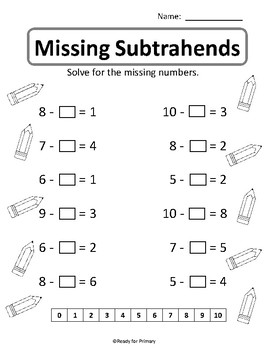 Missing Numbers: Addition and Subtraction