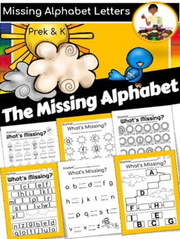 Missing Alphabet Cut and Paste Worksheets