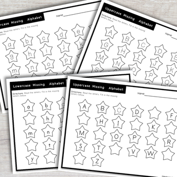 Missing Alphabet Game and Alphabet Printables- Easy Prep Literacy Center