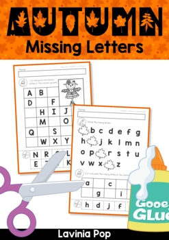 Missing Alphabet Letters Cut and Paste - AUTUMN / FALL Theme