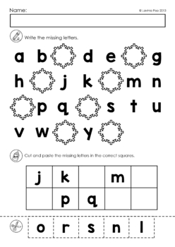 missing alphabet letters cut and paste winter theme by lavinia pop. Black Bedroom Furniture Sets. Home Design Ideas