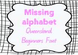 Missing Alphabet - Queensland Beginners Font