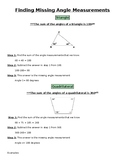 Missing Angle Measurement Notes