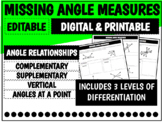 Missing Angle Measures   Distance Learning