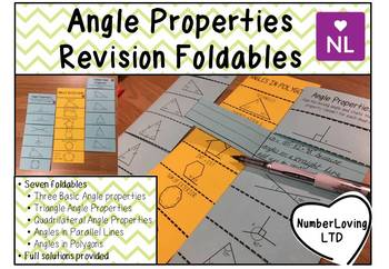 Missing Angle Properties Revision Foldable