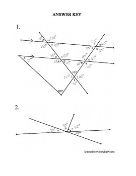 Missing Angle Puzzles 2 By Math With Mastie Teachers Pay Teachers