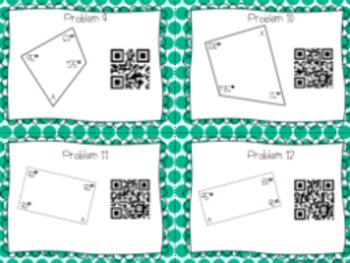 Missing Angle Quadrilateral: QR Code Task Cards