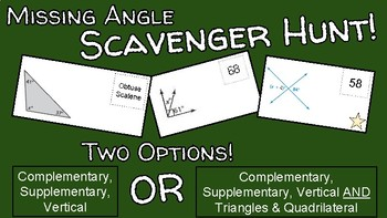 Missing Angle Scavenger Hunt! TWO OPTIONS!!