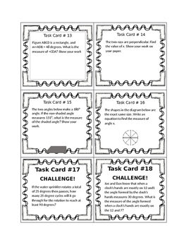 Missing Angle Task Cards