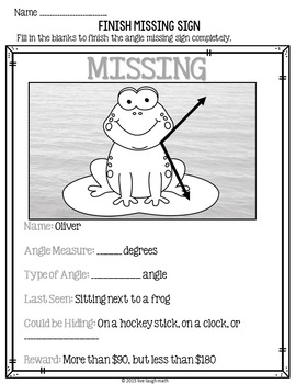 Missing Angles Activity FREEBIE