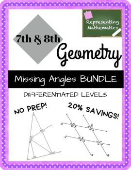 Missing Angles BUNDLE - Angle Relationships & Transversals