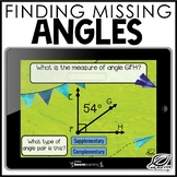 Missing Angles Digital Task Card | Boom Cards | Distance Learning