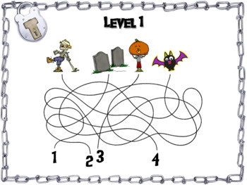 Solving for Missing Angles Game: Geometry Escape Room Halloween Math Activity