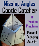 Solving for Missing Angles Practice Activity 7th 8th 9th 10th Grade
