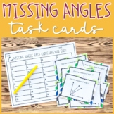 Missing Angles Task Cards (adjacent, complementary, supple