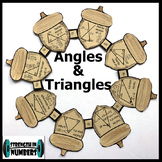 Missing Angles & Triangles Activity Thanksgiving Fall Acorn Wreath