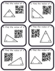 Missing Angles in Triangles Task Cards (with and without) QR Codes