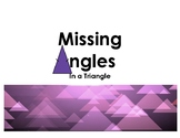 Missing Angles in a Triangle
