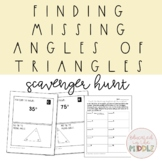 Find Missing Angle in Triangle Activity: Scavenger Hunt