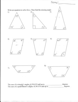 Angles Of Triangles Worksheet Answers Worksheets for all ...