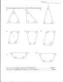 Missing Angles worksheet- Triangles and Quadrilaterals