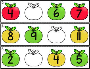 Missing Apples - Number Order Practice