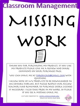 Missing Assignment