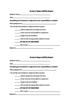 Missing Assignment Accountability