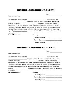 Missing Assignment Alert!