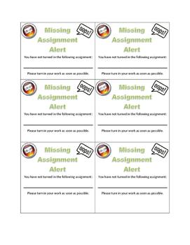Missing Assignment Alert Card