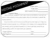 Missing Assignment Form *Editable*